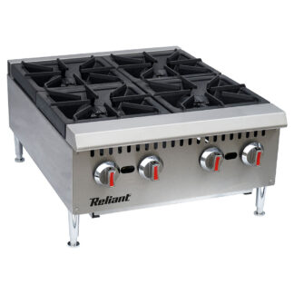 """Reliant Heavy-Duty S/S 24"""" Gas Hotplate, NG (GHP4LNG)"""