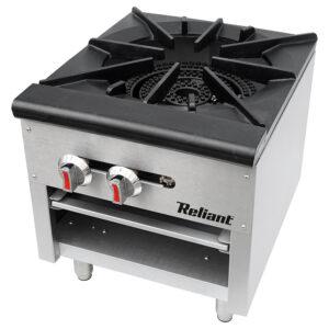 Reliant Heavy-Duty S/S Single Gas Stock Pot Burner, NG (SP1NG)