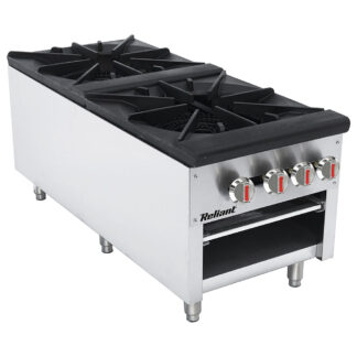 Reliant Heavy-Duty S/S Double Gas Stock Pot Burner, NG (SP2NG)