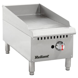 """Reliant Heavy-Duty S/S 12"""" Gas Manual Griddle, NG (GG12NG)"""