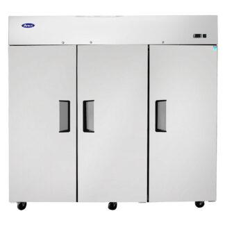 Atosa 65 cu. ft. Three Solid Door Upright Cooler, Top Mount (MBF8006GR)