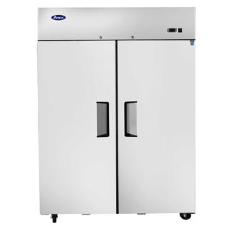 Atosa 43 cu. ft. Two Solid Door Upright Cooler, Top Mount (MBF8005GR)